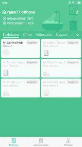 Xiaomi MI Home kezdőképernyő