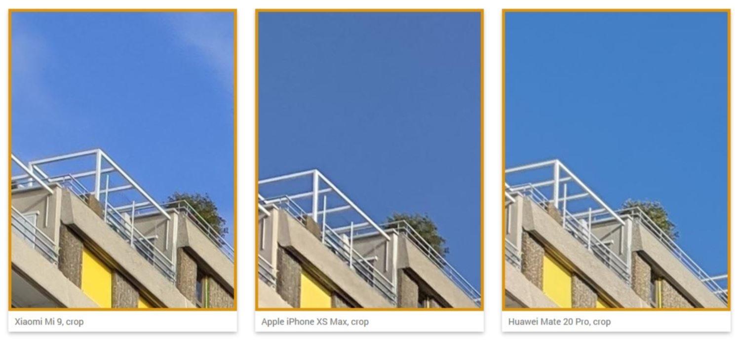 Xiaomi Mi 9 Apple iPhone XS Max Huawei Mate 20 Pro tesztfotó