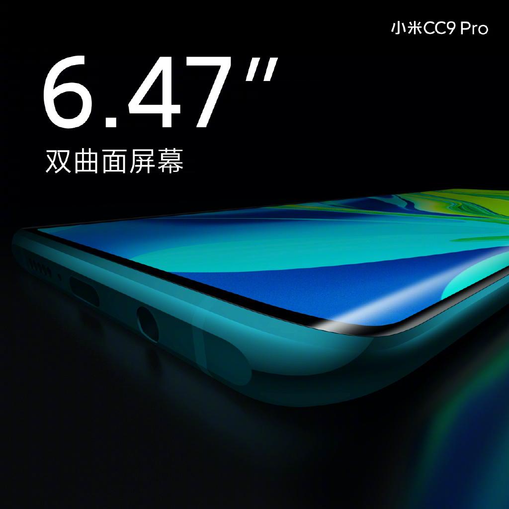 Xiaomi CC9 Pro kijelző