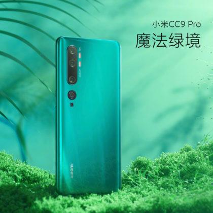 Xiaomi CC9 Pro zöld
