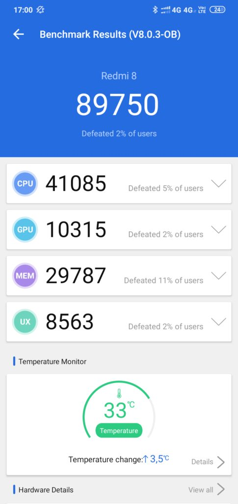 Redmi 8 benchmark