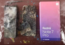 elégett Xiaomi Note 7 Pro