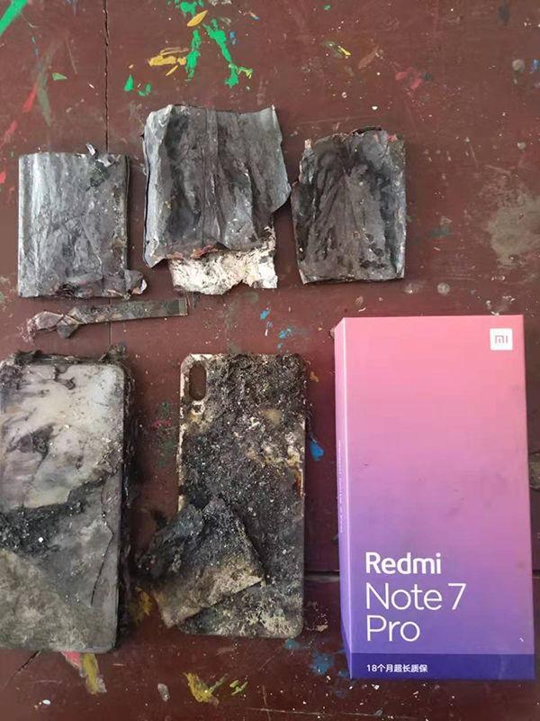 szénné égett Redmi Note 7 Pro