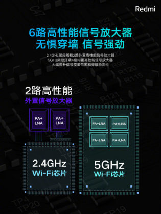 kétsávos Redmi router