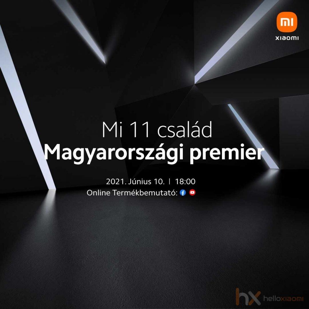 Xiaomi Mi 11 család Magyarországi premier