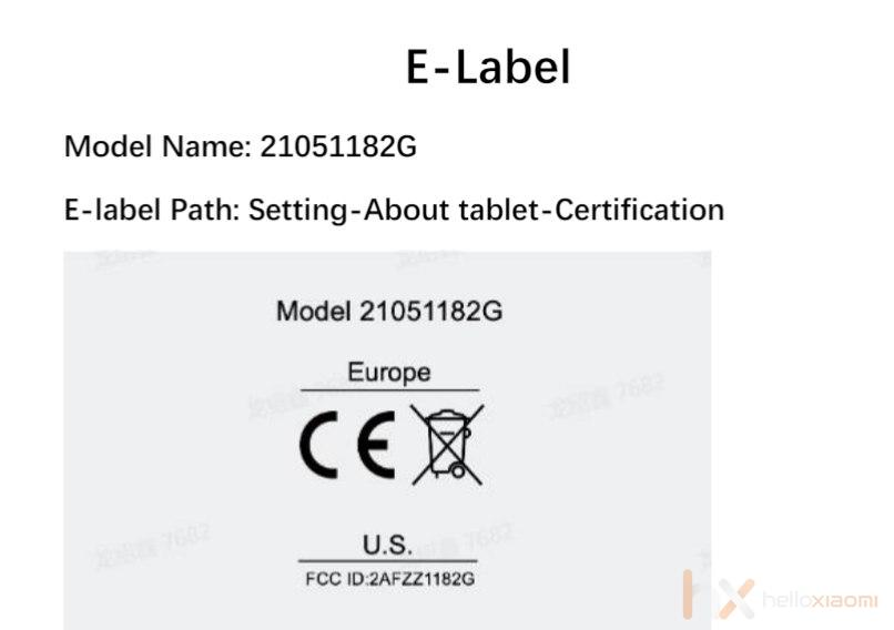 Xiaomi tablet globál verzió