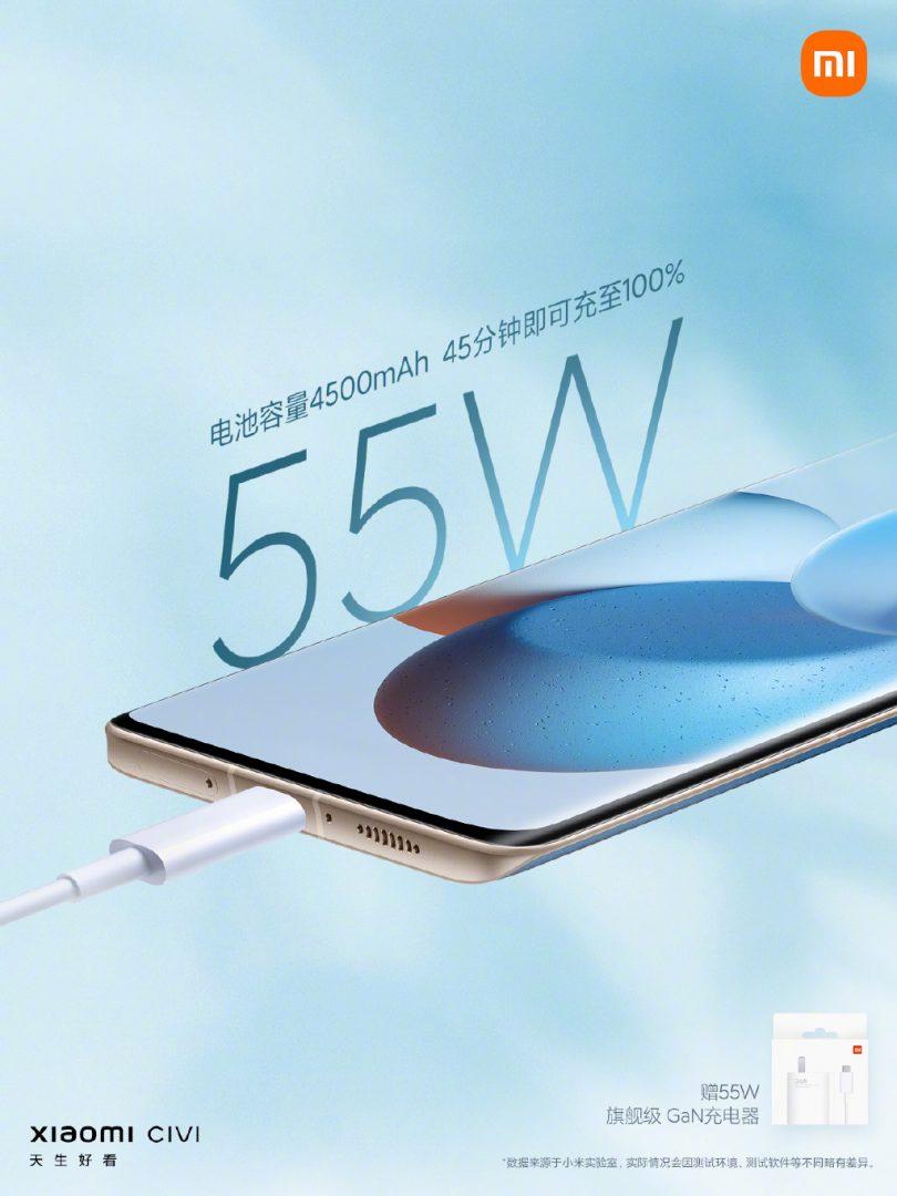 Xiaomi CIVI akkumulátor és töltő