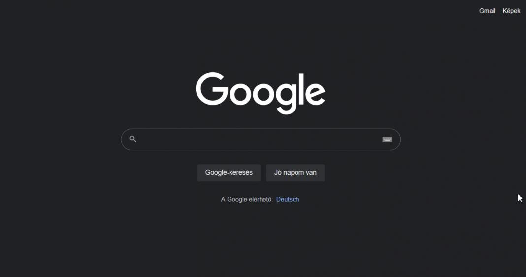google asztali sötét mód